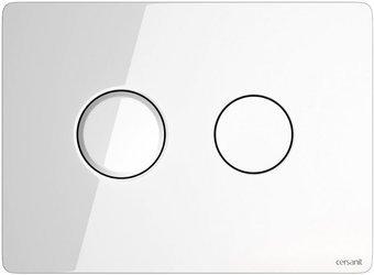 Przycisk spłukujący accento circle szkło białe S97-055 Cersanit