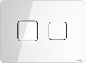 Przycisk spłukujący accento square szkło białe S97-054 Cersanit